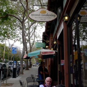 The Brewed Awakening, a Berkeley coffee shop where we started each day