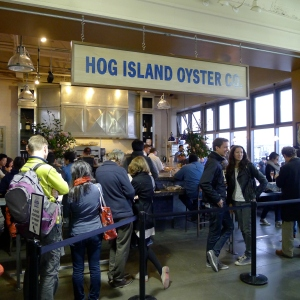 A popular restaurant inside the San Francisco Ferry Building