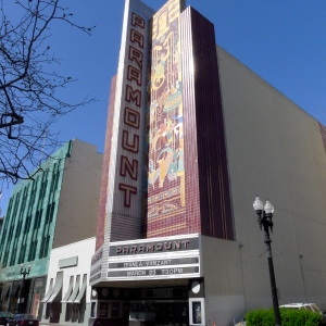 The Art-Deco style Paramount Theatre, completed in 1931