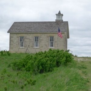 One-room schoolhouse, which operated from 1884 to 1930.