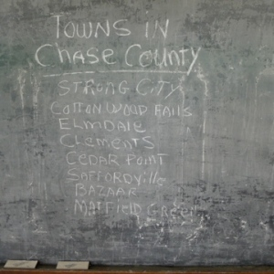 Towns in Chase County, then and now.