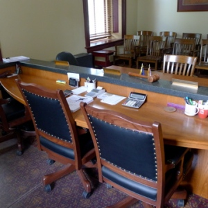 County Commission meeting room